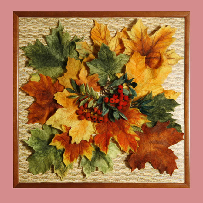 Картины из листьев мастер классы